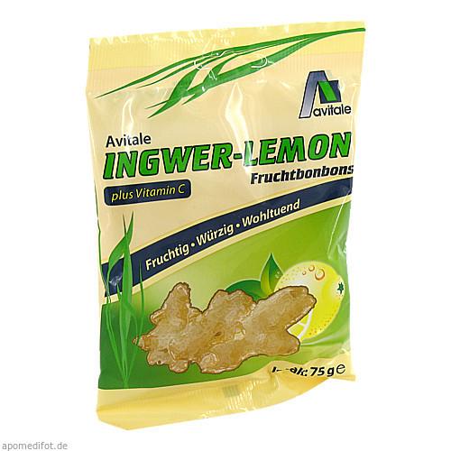 Ingwer Lemon Bonbons + Vit. C, 75 G, Avitale GmbH