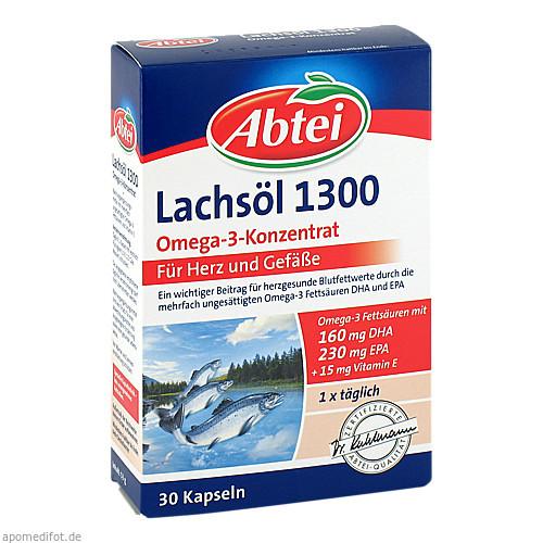 ABTEI Lachsöl 1300 Kapseln, 30 ST, Omega Pharma Deutschland GmbH