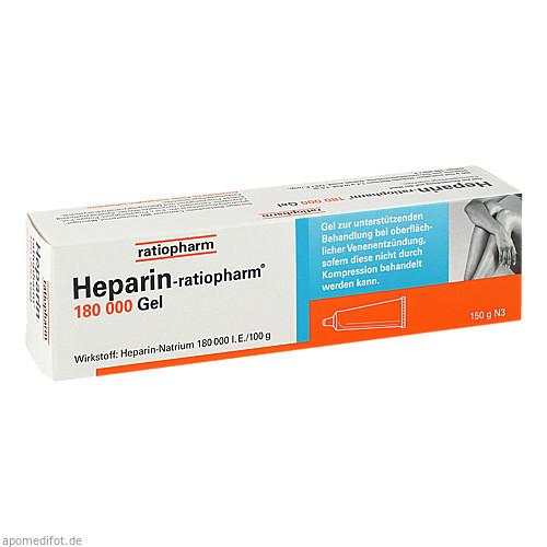 Heparin Ratiopharm 180000 Gel, 150 G, ratiopharm GmbH