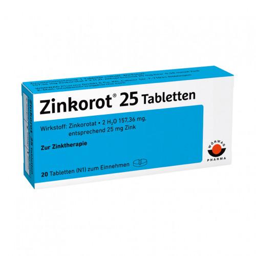 ZINKOROT 25, 20 ST, Wörwag Pharma GmbH & Co. KG