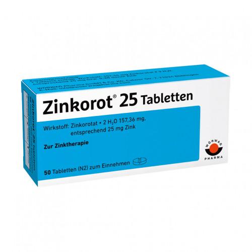 ZINKOROT 25, 50 ST, Wörwag Pharma GmbH & Co. KG