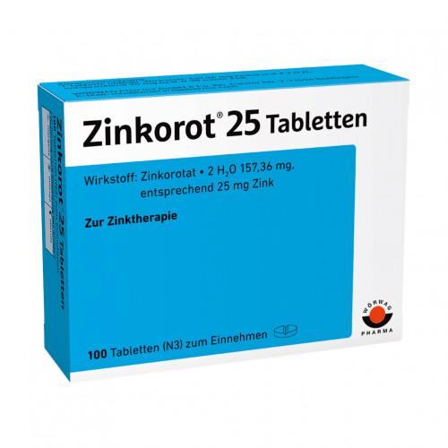 ZINKOROT 25, 100 ST, Wörwag Pharma GmbH & Co. KG