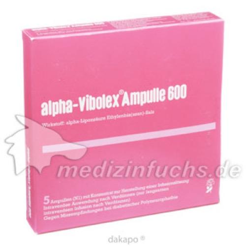 ALPHA VIBOLEX 600 mg Ampullen, 5 ST, CNP Pharma GmbH