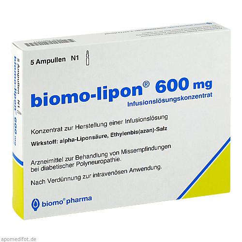BIOMO LIPON 600mg, 5 ST, Biomo Pharma GmbH