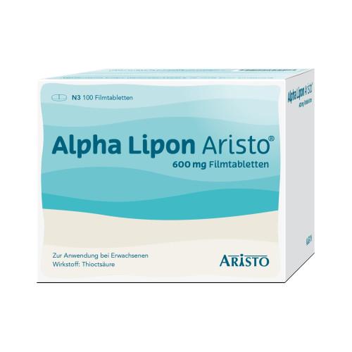 Alpha Lipon Aristo 600mg Filmtabletten, 100 ST, Aristo Pharma GmbH