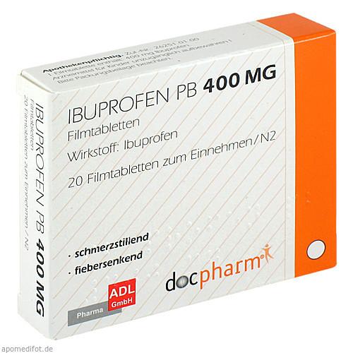 IBUPROFEN PB 400 mg Filmtabletten, 20 ST, ADL Pharma GmbH