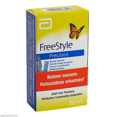 FreeStyle Precision Blutzucker-Teststr. o.Codieren, 100 ST, Abbott GmbH & Co. KG