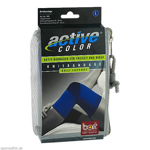 BORT ActiveColor Kniebandage blau large, 1 ST, Bort GmbH