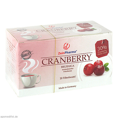Cranberry Filterbeutel Tee, 20 ST, Zein Pharma - Germany GmbH