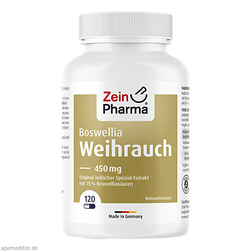 Weihrauch Kapseln, 120 ST, Zein Pharma - Germany GmbH