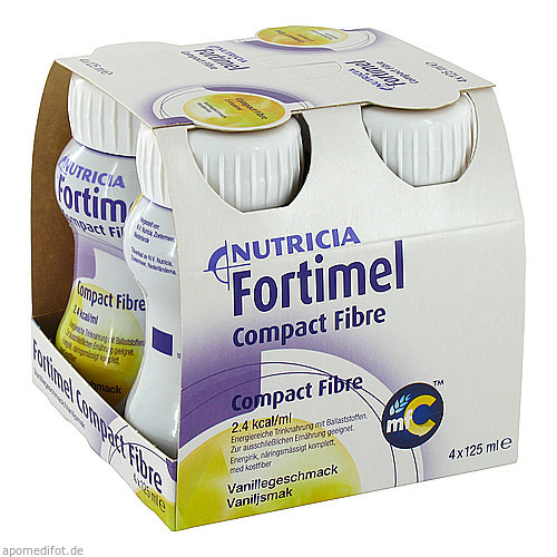 Fortimel Compact Fibre Vanille, 4X125 ML, Nutricia Milupa GmbH