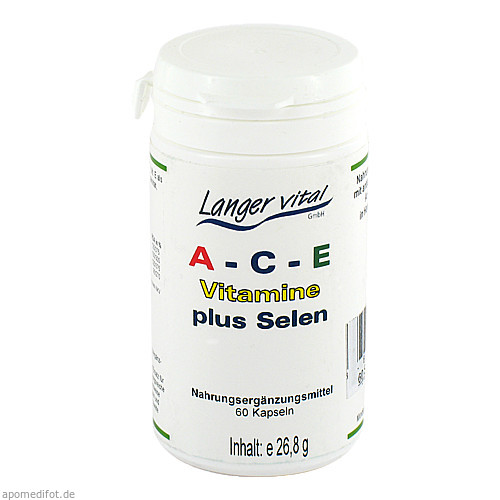 A-C-E plus Selen Kapseln, 60 ST, Langer Vital GmbH