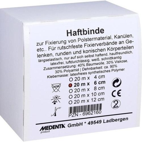 HAFTBINDE elastisch 6 cmx20 m, 1 ST, MEDENTA GmbH