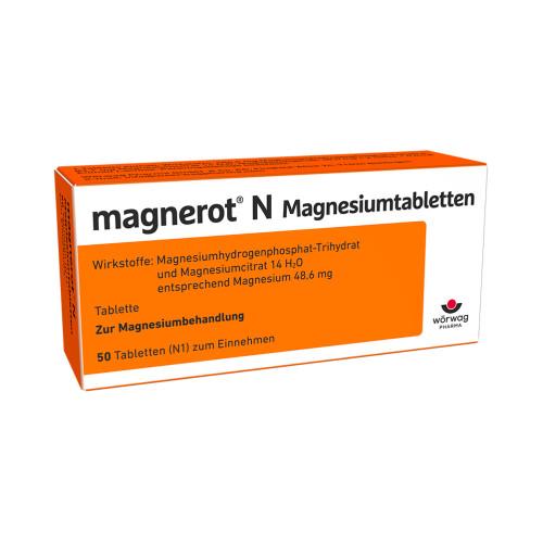 magnerot N Magnesiumtabletten, 50 ST, Wörwag Pharma GmbH & Co. KG