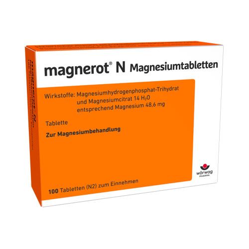 magnerot N Magnesiumtabletten, 100 ST, Wörwag Pharma GmbH & Co. KG