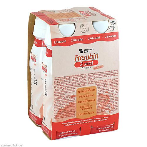 Fresubin 2 kcal DRINK Aprikose-Pfirsich Trinkfla., 4X200 ML, Fresenius Kabi Deutschland GmbH