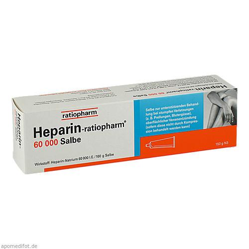 Heparin Ratiopharm 60000 Salbe, 150 G, ratiopharm GmbH