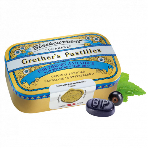 GRETHERS BLACKCURRANT Silber zf Dose, 110 G, Hager Pharma GmbH