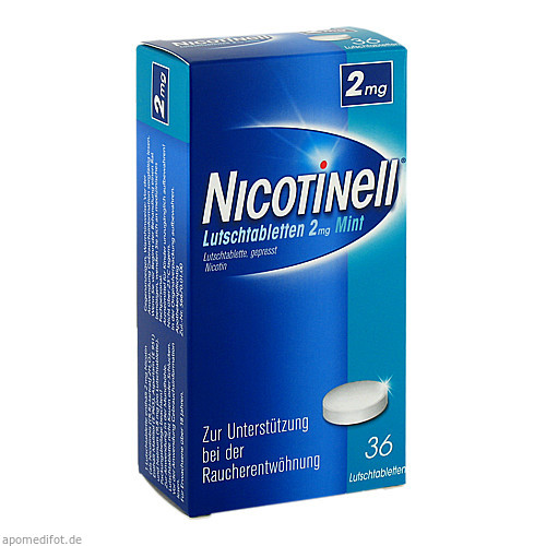 Nicotinell Lutschtabletten 2mg Mint, 36 ST, GlaxoSmithKline Consumer Healthcare