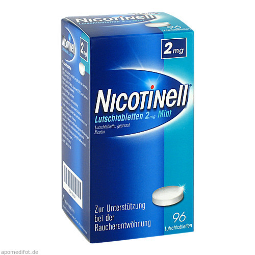 Nicotinell Lutschtabletten 2mg Mint, 96 ST, GlaxoSmithKline Consumer Healthcare GmbH & Co. KG
