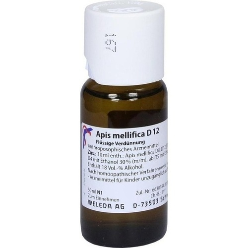 APIS MELLIFICA D 12 Dilution, 50 ML, WELEDA AG