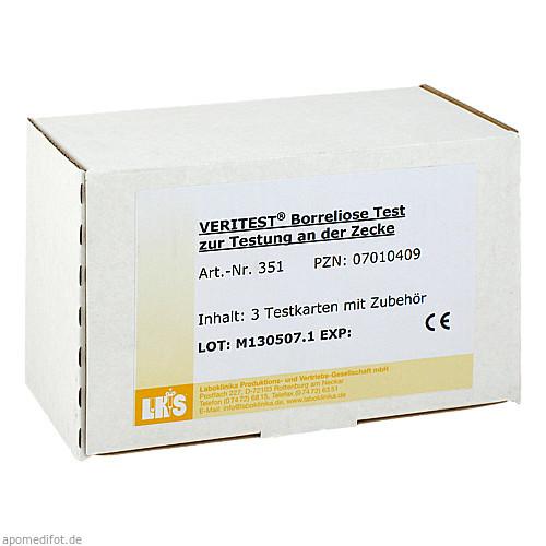Borreliose Test - Testung der Zecke (Testkarte), 3 ST, Laboklinika Produktions-Und Vertriebs-Gesellschaft mbH