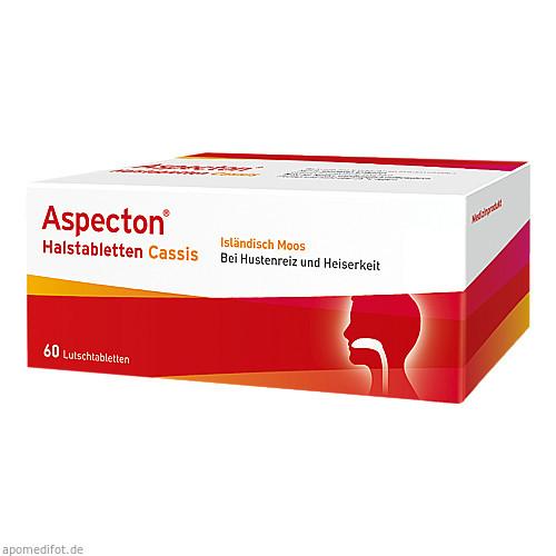 Aspecton Halstabletten Cassis, 60 ST, Krewel Meuselbach GmbH