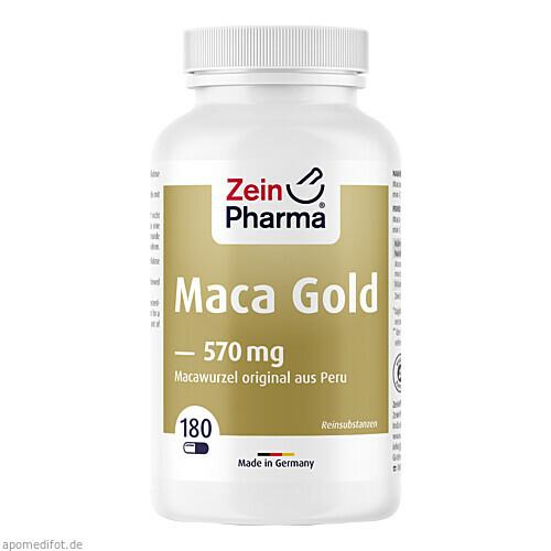 Maca Gold vegetarische Kapseln plus Zink+Vit. C, 180 ST, Zein Pharma - Germany GmbH