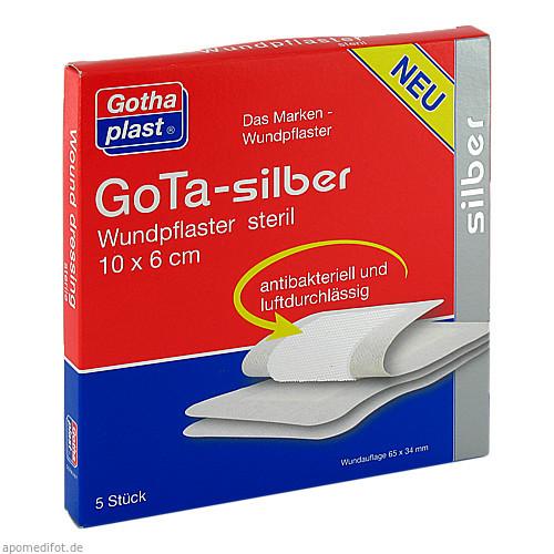 GoTa-silber Wundpflaster steril 10x6cm, 5 ST, Gothaplast GmbH