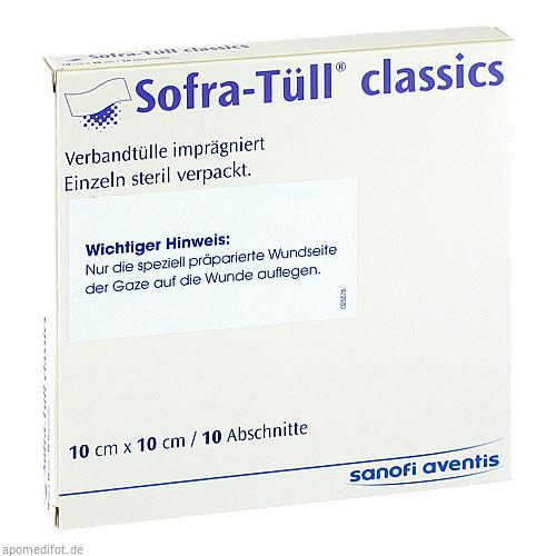 Sofra-Tüll classics Abschnitte 10x10cm, 10 ST, Sanofi-Aventis Deutschland GmbH