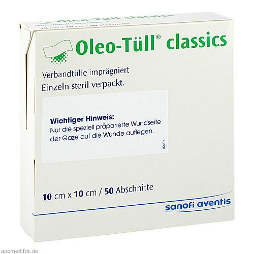 Oleo-Tüll Classics 10x10cm, 50 ST, Sanofi-Aventis Deutschland GmbH