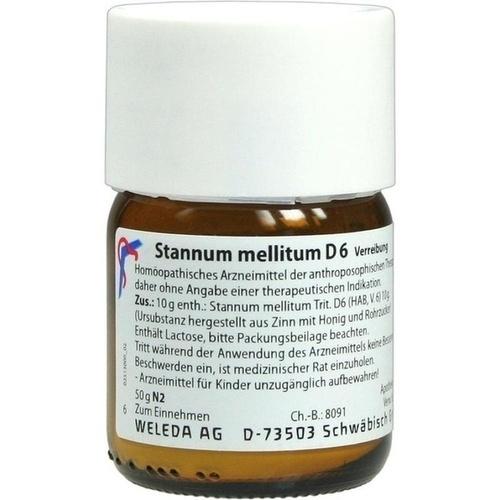 STANNUM MELLITUM D 6 Trituration, 50 G, WELEDA AG