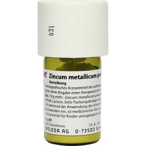 Zincum metallicum pr. D6, 20 G, Weleda AG