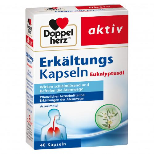 Doppelherz Erkältungs Kapseln Eukalyptus, 40 ST, Queisser Pharma GmbH & Co. KG