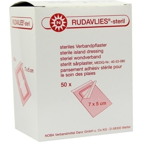 RUDAVLIES STERIL 7CMX5CM VERBANDPFLASTER, 50 ST, Nobamed Paul Danz AG