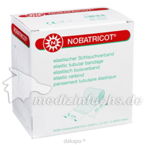 NOBATRICOT 20MX8CM SCHLAUCHVERBAND, 1 ST, Nobamed Paul Danz AG