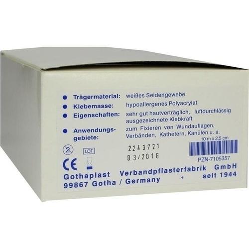 GOTHA SILK HEFTPFLASTER 10MX2.5CM SEIDE AUF KERN, 12 ST, Gothaplast GmbH