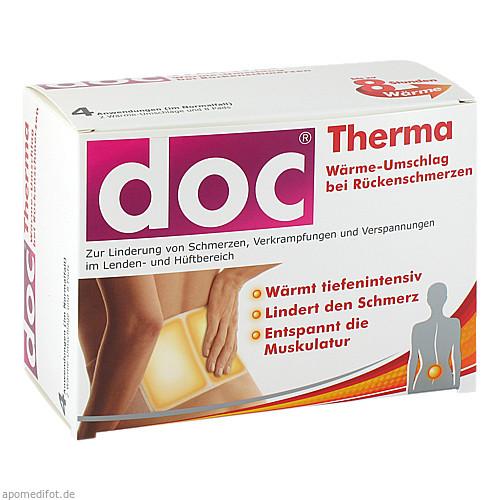 Doc Therma Wärme-Umschlag bei Rückenschmerzen, 4 ST, Hermes Arzneimittel GmbH