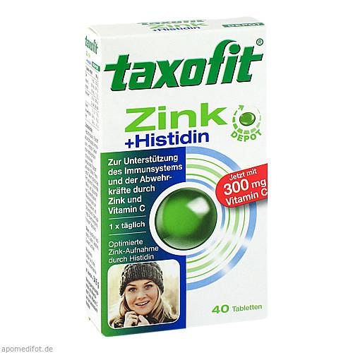 TAXOFIT Zink+Histidin mit Vitamin C Tabletten, 40 ST, MCM KLOSTERFRAU Vertr. GmbH
