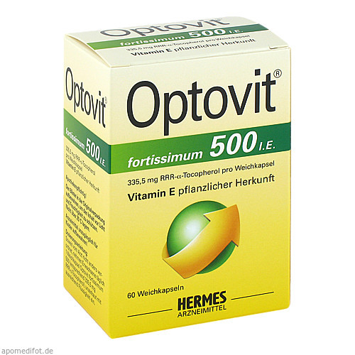 OPTOVIT FORTISSIMUM 500, 60 ST, Hermes Arzneimittel GmbH