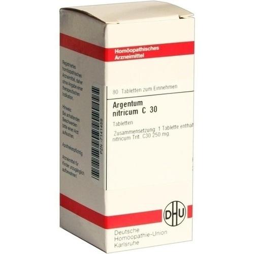 ARGENTUM NITRICUM C30, 80 ST, Dhu-Arzneimittel GmbH & Co. KG