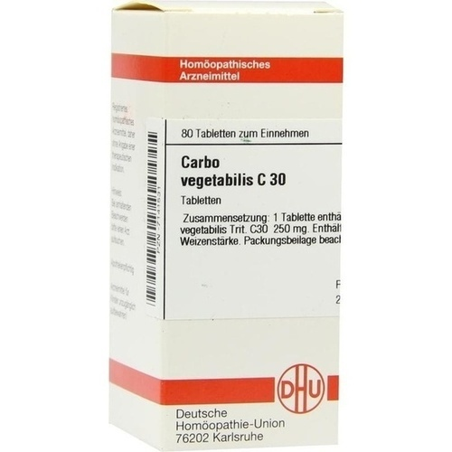 CARBO VEGETABILIS C 30 Tabletten, 80 ST, DHU-Arzneimittel GmbH & Co. KG