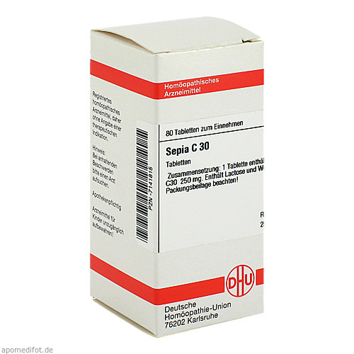 SEPIA C30, 80 ST, Dhu-Arzneimittel GmbH & Co. KG