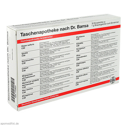 DHU TASCHENAPOTHEKE DR BANSA, 1 ST, Dhu-Arzneimittel GmbH & Co. KG