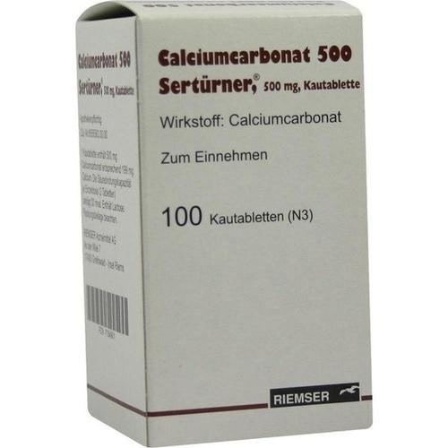 Calciumcarbonat 500 Sertürner, 100 ST, Abanta Pharma GmbH
