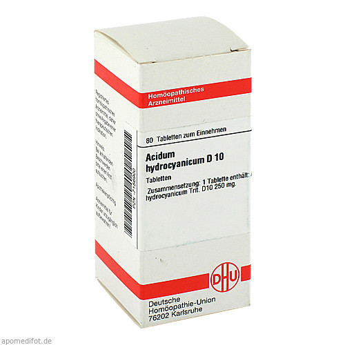 ACIDUM HYDROCYANIC D10, 80 ST, Dhu-Arzneimittel GmbH & Co. KG
