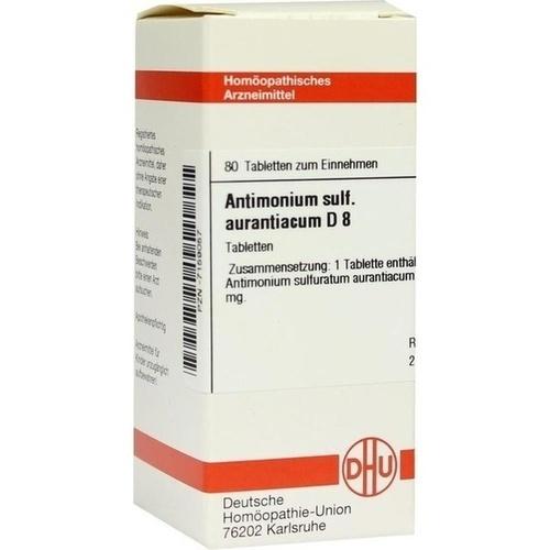 ANTIMONIUM SULF AURANT D 8, 80 ST, Dhu-Arzneimittel GmbH & Co. KG