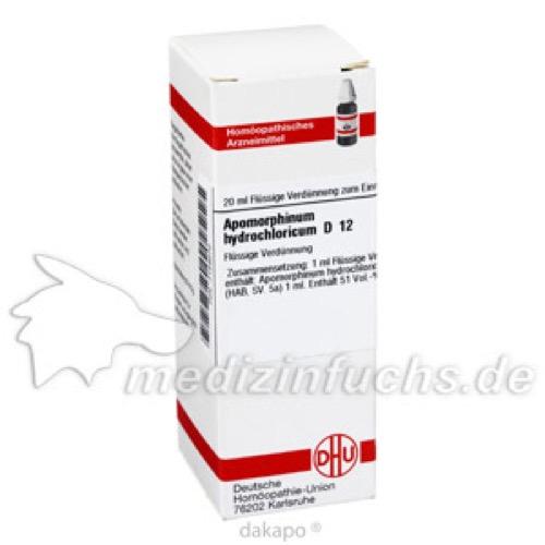 APOMORPHINUM HYDROCHL D12, 20 ML, Dhu-Arzneimittel GmbH & Co. KG