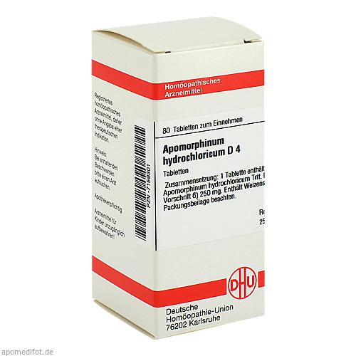 APOMORPHINUM HYDROCHL D 4, 80 ST, Dhu-Arzneimittel GmbH & Co. KG