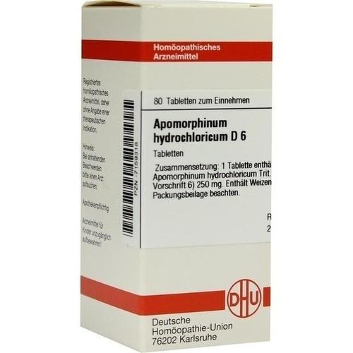 APOMORPHINUM HYDROCHL D 6, 80 ST, Dhu-Arzneimittel GmbH & Co. KG